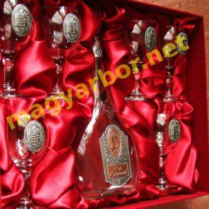Boros Ajándék Készlet Címeres Ón Díszítéssel Díszdobozban