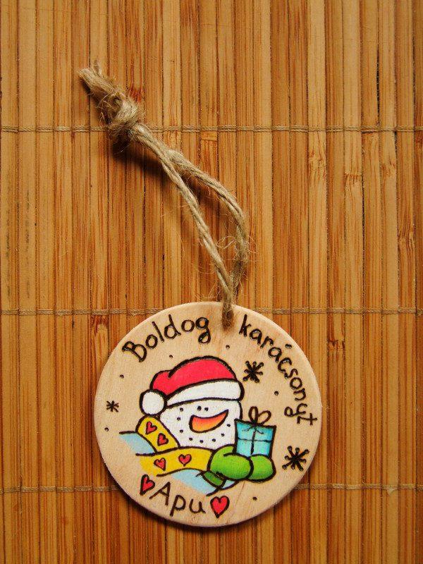 4DB Karácsonyi Fa Ajándékkísérő, Személyre szabott, Kézműves