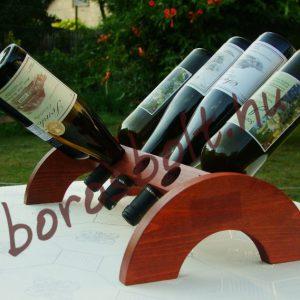 Asztali Pácolt Fa Bortartó 8 palacknak
