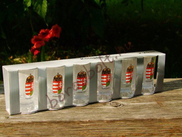 Címeres Pálinkáspohár Készlet (6 db 25 ml-es)