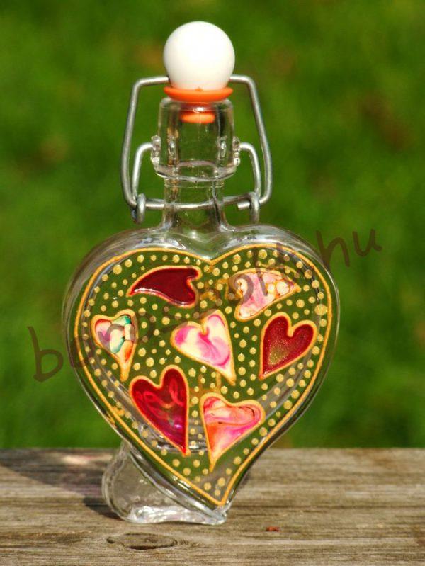 Szív alakú Üvegpalack 40 ml Festéssel vagy Gravírral