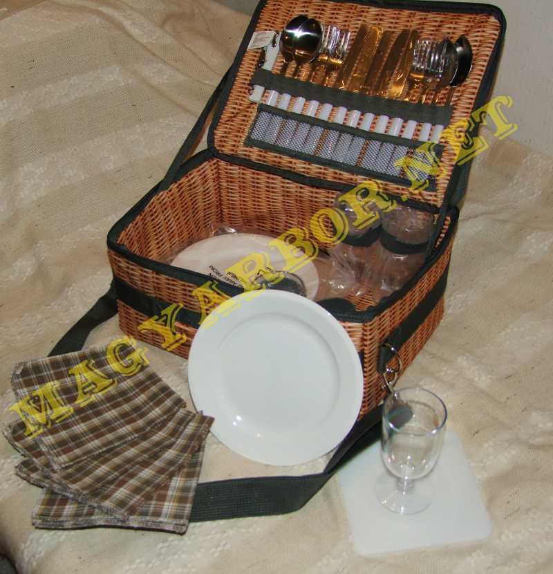 4 Személyes Piknik Készlet Táskában